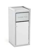 Waste container on white background