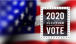 USA presidental election 2020. Vector illustration with american flag