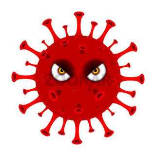 New Coronavirus Covid-19 concept design logo vector illustration