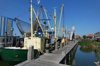 Fishing trawler in Makkum on the IJsselmeer