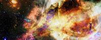 Gargantua galaxy design, Black hole. Elements of this image furnished by NASA.