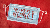 face masks required concept