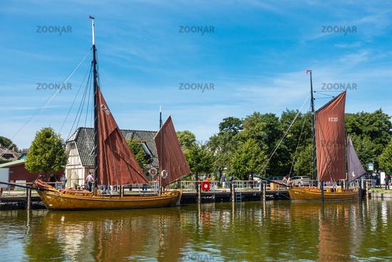 The tranquil port of Ahrenshop, Fischland-Darss, Mecklenburg-Vorpommern, summer 2020