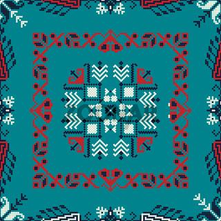 Romanian traditional pattern 186