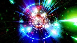 Glowing rainbow color tunnel 3d illustration background wallpaper artwork