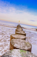 Wavebreaker - Baltic Sea wooden breakwater