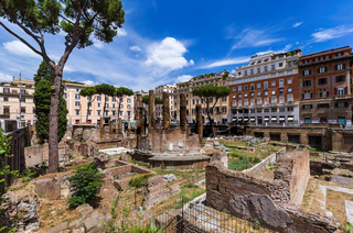 Area Sacra ruins in Rome Italy