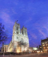Westminster Abbey at Dusk london england