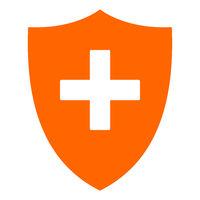 Plus und Schild - Plus and shield