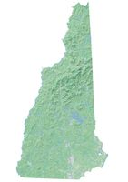 High resolution topographic map of New Hampshire