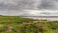 The Solway coast in Bowness-on-Solway, Cumbria, England