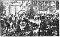 Iron Rolling Mill (Eisenwalzwerk) is a painting by German artist Adolph Menzel.
