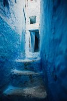 Beautiful blue medina city in Morocco, North Africa