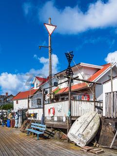 Hafen auf der Insel Åstol in Schweden