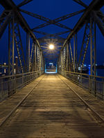 Nassau bridge at blue hour, Wilhelmshaven, Germany