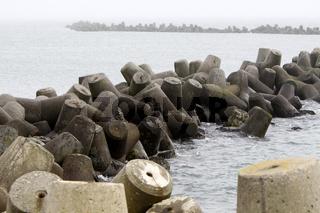 Tetrapoden auf der Insel Düne (Helgoland)