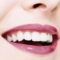 Perfect smile and healthy white natural teeth, happy smiling for dental and beauty