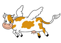 Cartoon Flying cow