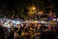 Hanoi Street Food Night Market Vietnam