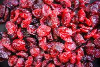 Cranberries background texture