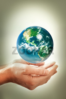 conceptual image of environmental protection