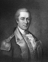 Otho Holland Williams (1749-1794) on engraving from 1835. Continental Army officer in the American Revolutionary War. Engraved by J.B.Longacre and published in''National Portrait Gallery of Distinguished Americans Volume II''