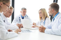 Team of expert doctors at clinic