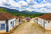 View of the historic city center of Tiradentes