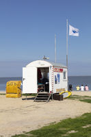 DLRG Water saving at the beach of Norddeich