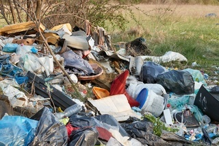 Pile of trashed dumped illegally