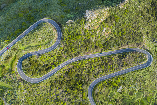 Serpentine Road Aerial
