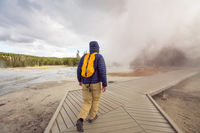 Tourist in Yellowstone