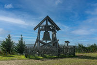 The peace bell on Fichtelberg mountain top at the ore mountains