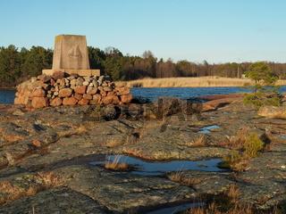 Denkmal der Postangehörigen, Eckerö, Aland