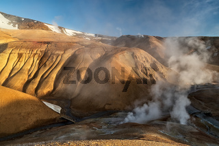 Sunrise in Kerlingarfjoll geothermal area, Iceland