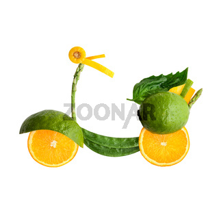 Fruity scooter.