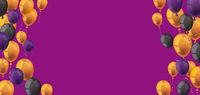 Halloween Balloons Purple Header