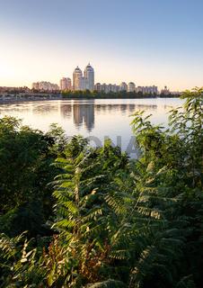 Obolon Buildings Near the Dnieper River