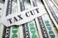 Tax Cut message on hundred dollar bills
