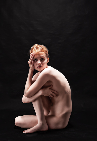 Sexy body of a young naked woman