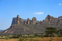 Koraro Felsnadeln im Gheralta Bergmassiv