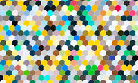 Colorful abstract circular pattern