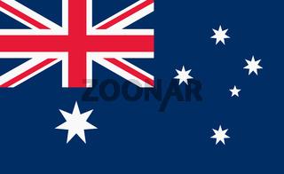 Australia Flag illustration union jack and Southern Cross