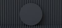 Abstract background black circle 3D