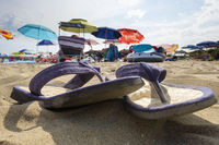 Flipflops in the sand