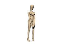wooden mannequin posing