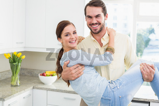 Young couple having fun together