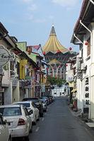in the old Chinatown of Kuching, Sarawak, Borneo, Malaysia