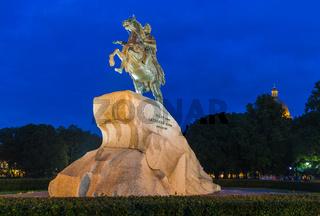 Monument of Russian emperor Peter the Great (The Bronze Horseman) - Saint-Petersburg - Russia