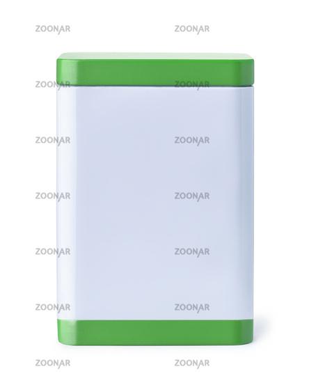 Blank kitchen storage tin container